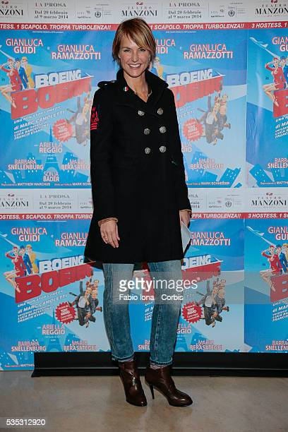 Ellen Hidding attends the first night Boing Boing at Manzoni's Theater on February 20 2014 in Milan/Italy