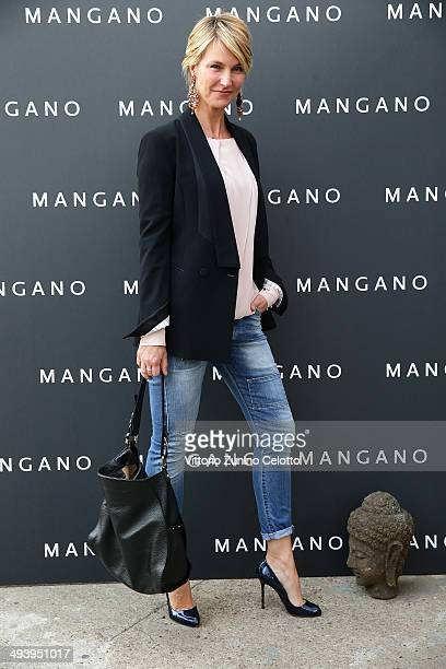 Ellen Hidding attends the Mangano fashion show on May 26 2014 in Milan Italy