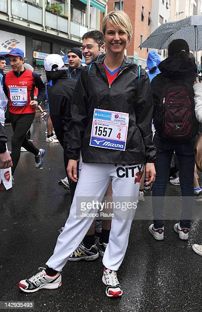 Ellen Hidding attends the Milano City Marathon 2012 on April 15 2012 in Milan Italy