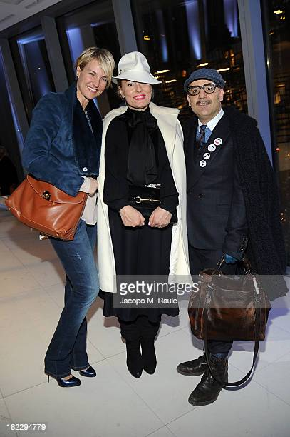 Ellen Hidding Roberta Murr and Antonio Murr attend the Sergio Rossi presentation cocktail during Milan Fashion Week Womenswear Fall/Winter 2013/14 on...