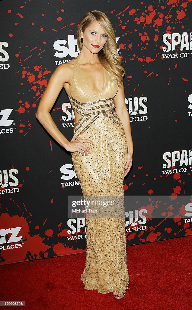 Ellen Hollman arrives at the Los Angeles premiere of 'Spartacus: War Of The Damned' held at Regal Cinemas L.A. LIVE Stadium 14 on January 22, 2013 in Los Angeles, California.