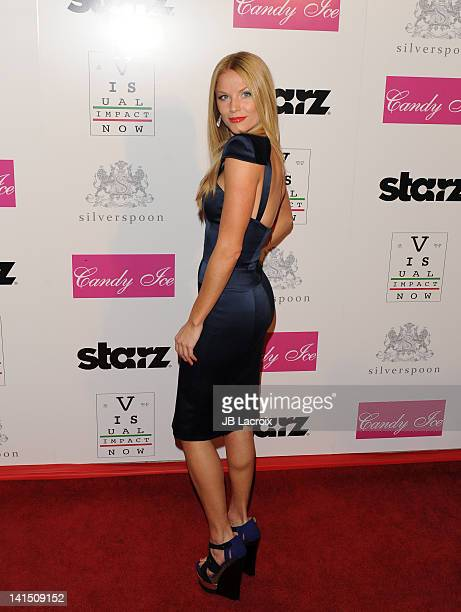 Ellen Hollman attends the annual Visual Impact Now Charity event held at Silverspoon on March 15 2012 in West Hollywood California