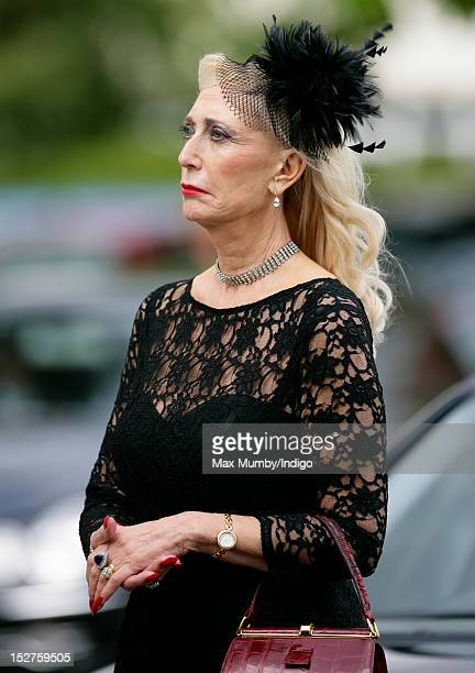 Ellen Jameson attends the funeral of her husband broadcaster and former Fleet Street editor Derek Jameson at Offington Park Methodist Church on...