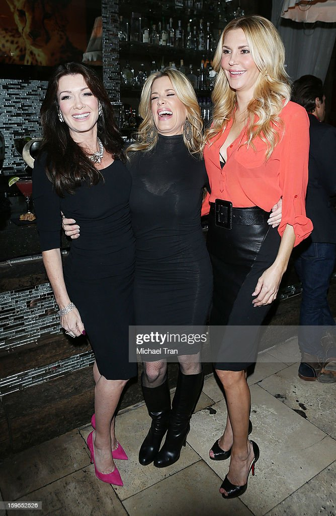 Ellen K, Lisa Vanderpump and Brandi Glanville attend the 'How Lavish Will Your 2013 Be?' event held at Sur Restaurant on January 15, 2013 in Los Angeles, California.