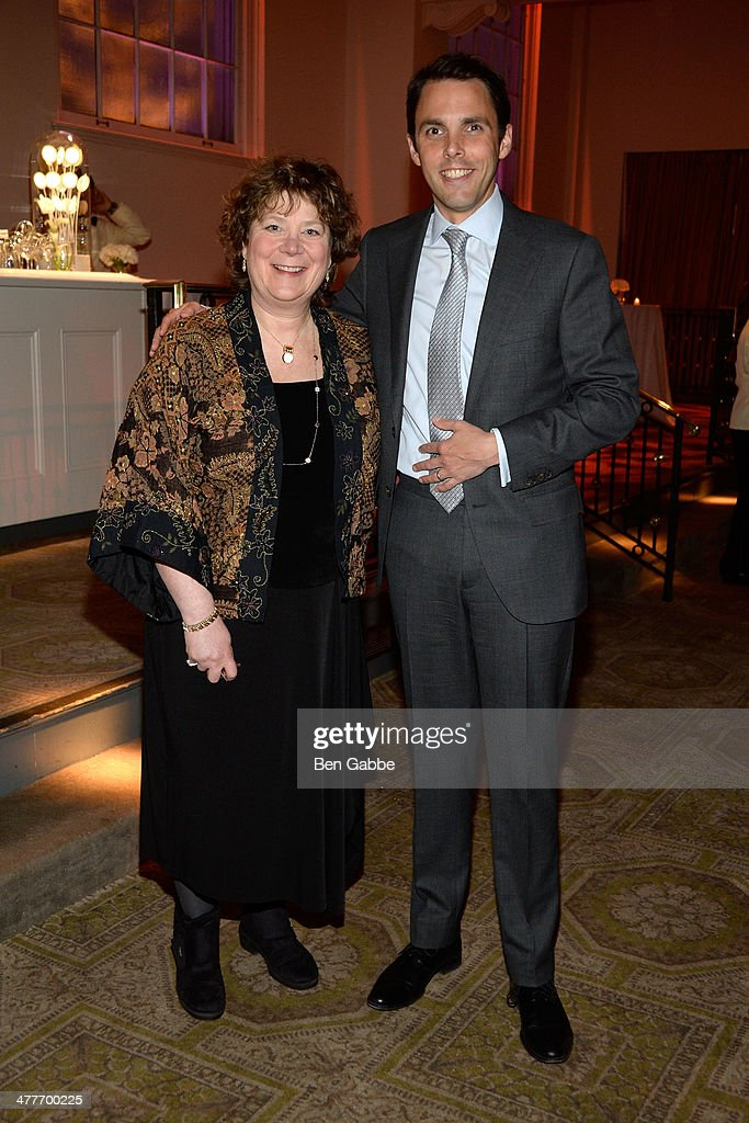 Ellen Kravet (L) and David Sprouls attend the New York School Of Interior Design 2014 Benefit Dinner at 583 Park Avenue on March 10, 2014 in New York City.