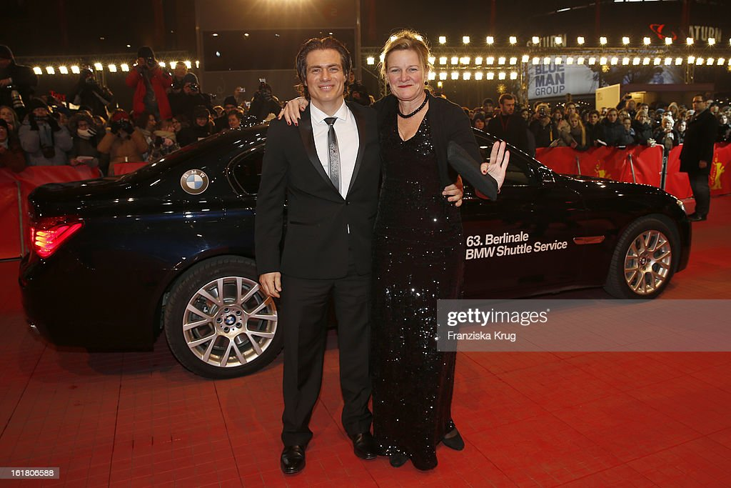 Ellen Kuras and guest attend the Closing Ceremony Red Carpet Arrivals BMW At The 63rd Berlinale International Film Festival at BerlinalePalast on...