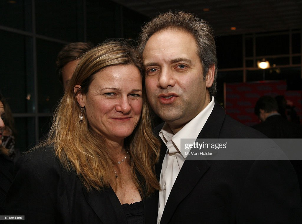 Ellen Kuras and Sam Mendes during IFP's 16th Annual Gotham Awards Backstage and Green Room at Pier 60 Chelsea Piers in New York City New York United...