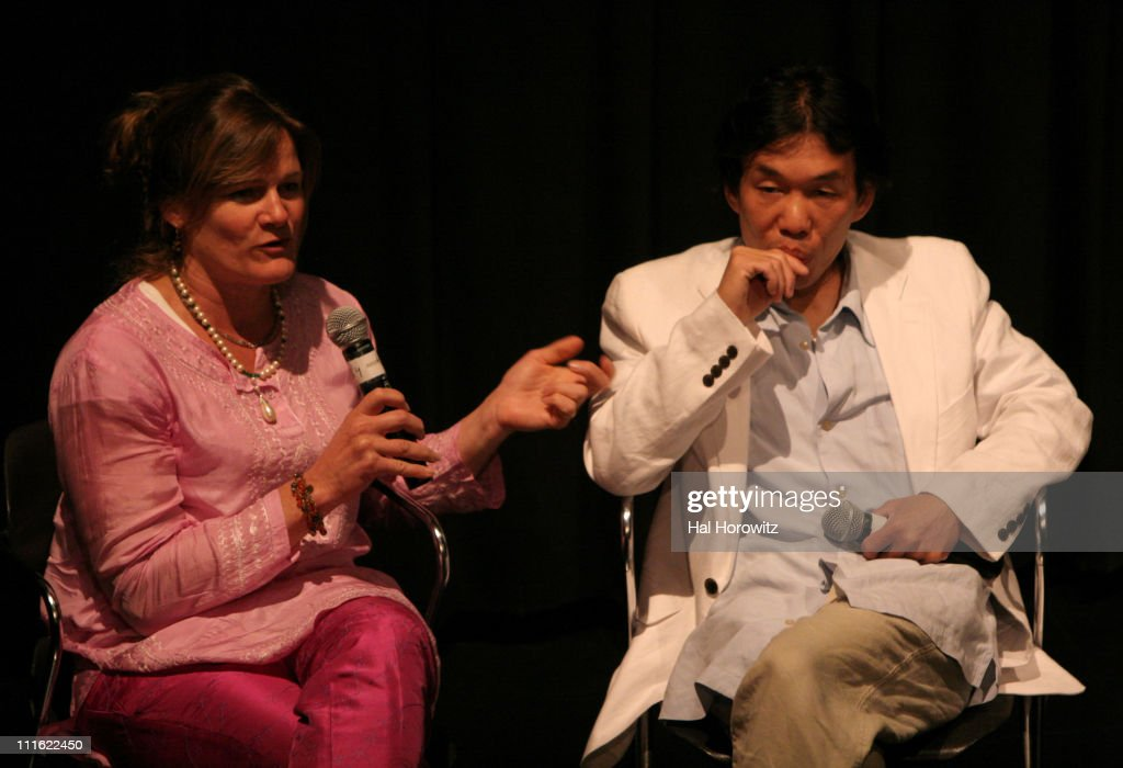 <a gi-track='captionPersonalityLinkClicked' href=/galleries/search?phrase=Ellen+Kuras&family=editorial&specificpeople=243051 ng-click='$event.stopPropagation()'>Ellen Kuras</a>, director and Thavisouk Phrasavath during Sundance Festival at BAM 2007 - Screening of Nerakhoun - The Centre Will Not Hold at BAMrose in Brooklyn, New York, United States.