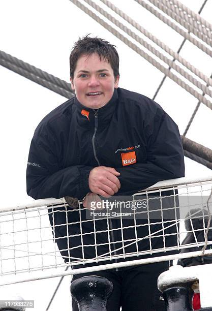 Ellen MacArthur during Ellen MacArthur Navigates The Thames at Thames in London Great Britain