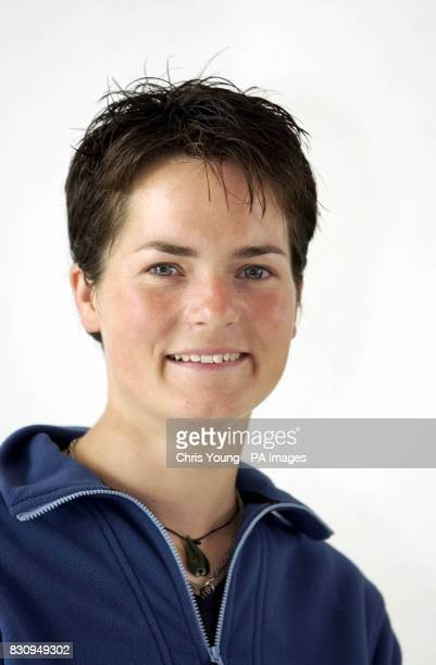 Ellen Macarthur the round the world yachtswoman poses at the launch of the Marks and Spencer active range 07/11/02 British recordbreaking yachtswoman...