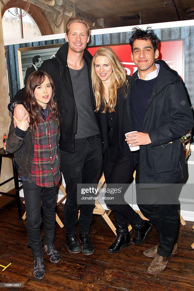 Ellen Page, Alexander Skarsgard, Brit Marling and Zal Batmanglij attend Day 3 of the Variety Studio At 2013 Sundance Film Festival on January 21, 2013 in Park City, Utah.