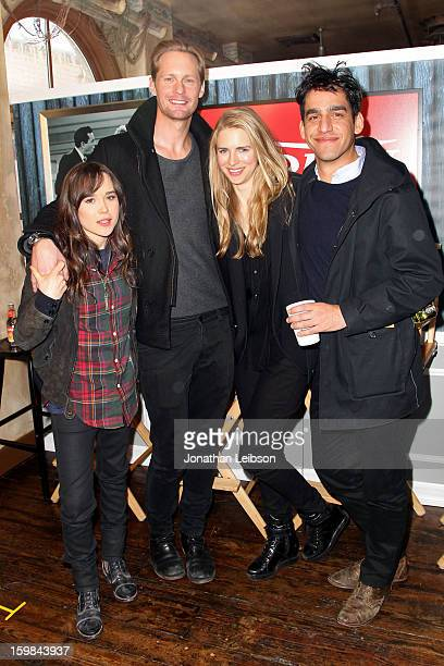 Ellen Page Alexander Skarsgard Brit Marling and Zal Batmanglij attend Day 3 of the Variety Studio At 2013 Sundance Film Festival on January 21 2013...
