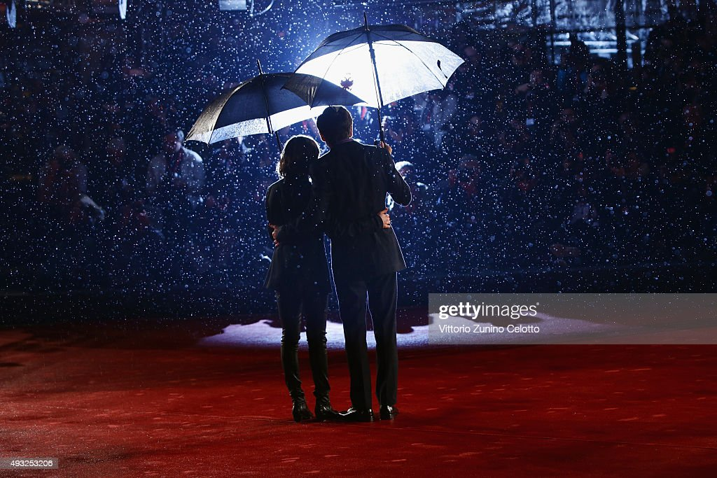 Ellen Page and Peter Sollett attend the red carpet for 'Freeheld' during the 10th Rome Film Fest on October 18 2015 in Rome Italy