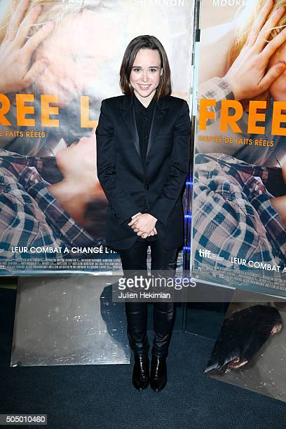Ellen Page attends 'Free Love' Paris Premiere at UGC Cine Cite des Halles on January 14 2016 in Paris France