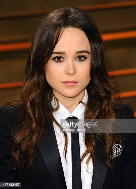 Ellen Page attends the 2014 Vanity Fair Oscar Party hosted by Graydon Carter on March 2 2014 in West Hollywood California