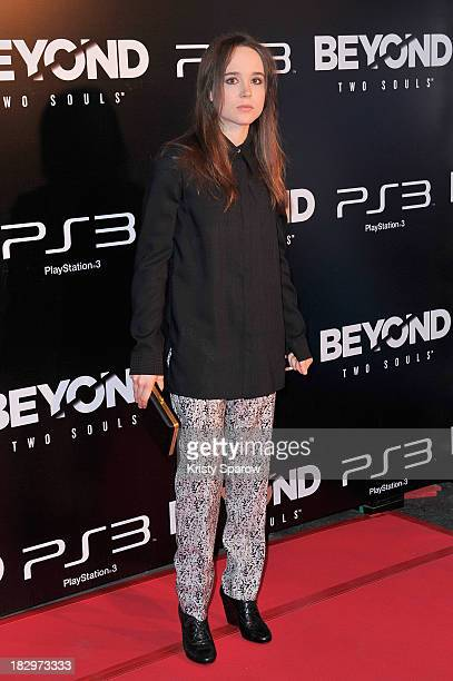 Ellen Page attends the 'Beyond Two Souls' Paris Premiere at the Grand Rex on October 2 2013 in Paris France