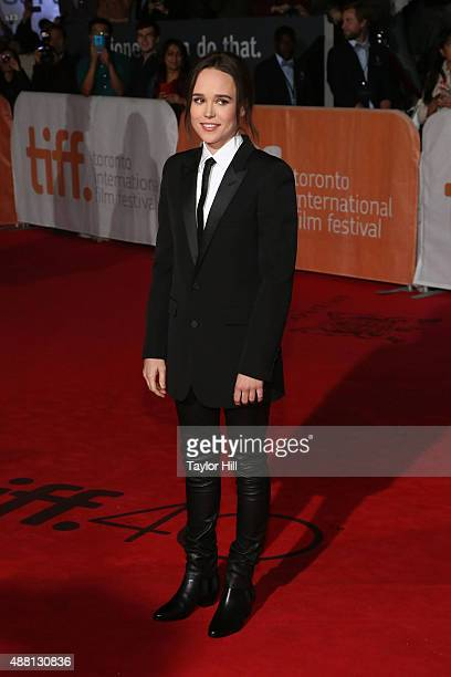 Ellen Page attends the world premiere of 'Freeheld' at Roy Thomson Hall during the 2015 Toronto International Film Festival on September 13 2015 in...