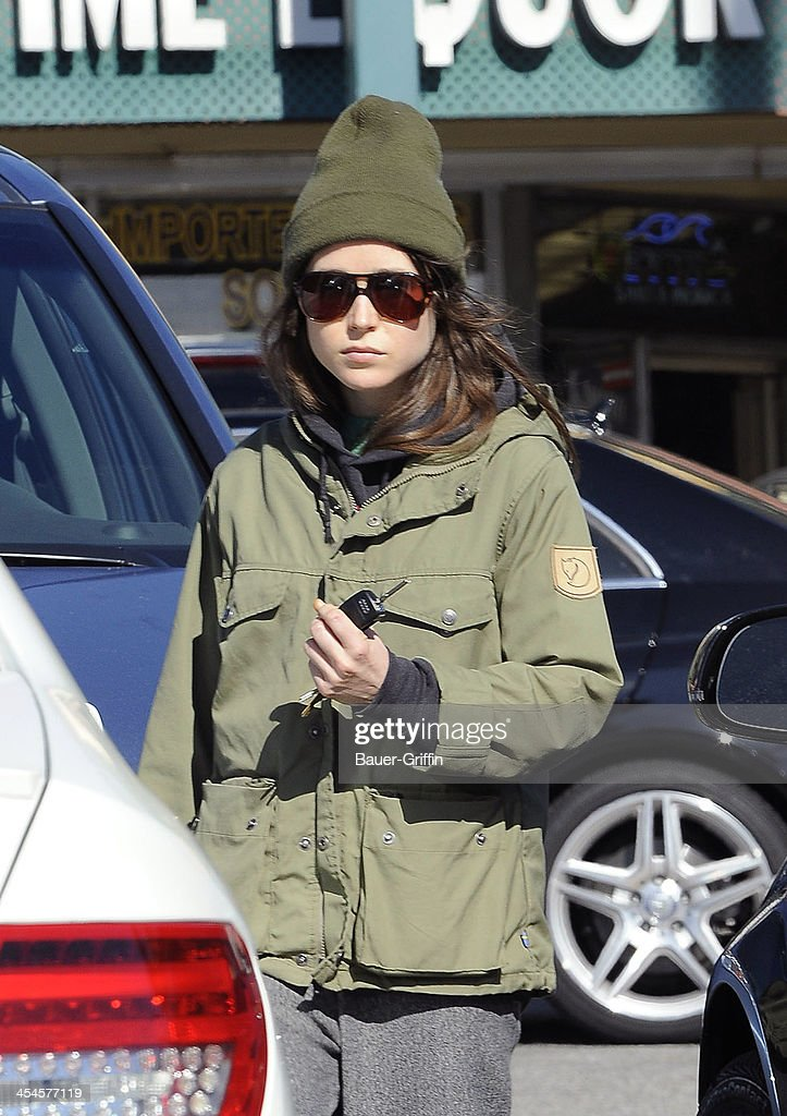 Ellen Page is seen leaving Whole Foods on December 09, 2013 in Los Angeles, California.