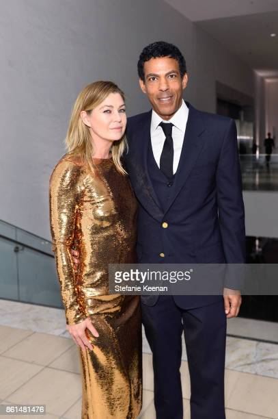 Ellen Pompeo and Chris Ivery at the Hammer Museum 15th Annual Gala in the Garden with Generous Support from Bottega Veneta on October 14 2017 in Los...