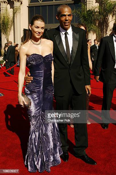 Ellen Pompeo and Christopher Ivery during 58th Annual Primetime Emmy Awards Red Carpet at The Shrine Auditorium in Los Angeles California United...