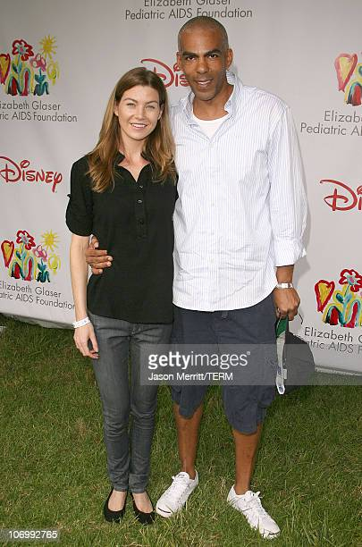 Ellen Pompeo and Christopher Ivery during 'A Time for Heroes' Carnival Hosted By Disney Arrivals at Wadsworth Theater in Westwood California United...