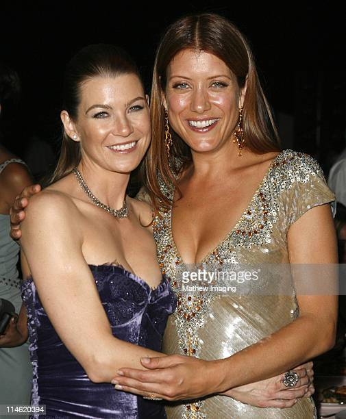 Ellen Pompeo and Kate Walsh during 58th Annual Primetime Emmy Awards Governors Ball at The Shrine Auditorium in Los Angeles California United States