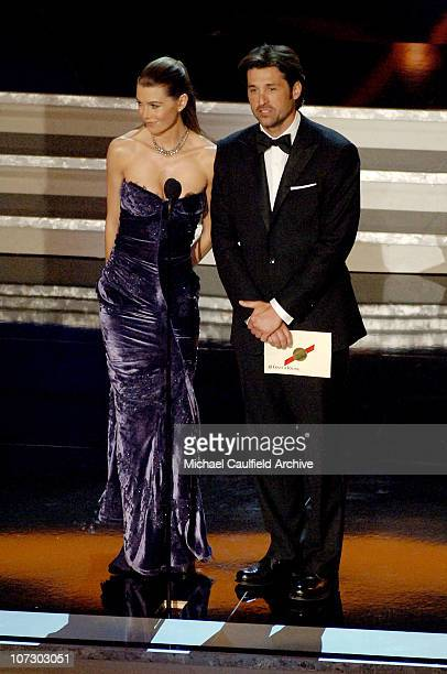 Ellen Pompeo and Patrick Dempsey during 58th Annual Primetime Emmy Awards Show at Shrine Auditorium in Los Angeles California United States