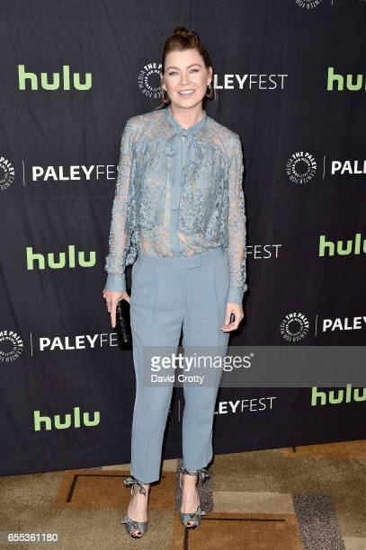 Ellen Pompeo attends PaleyFest Los Angeles 2017 'Grey's Anatomy' at Dolby Theatre on March 19 2017 in Hollywood California