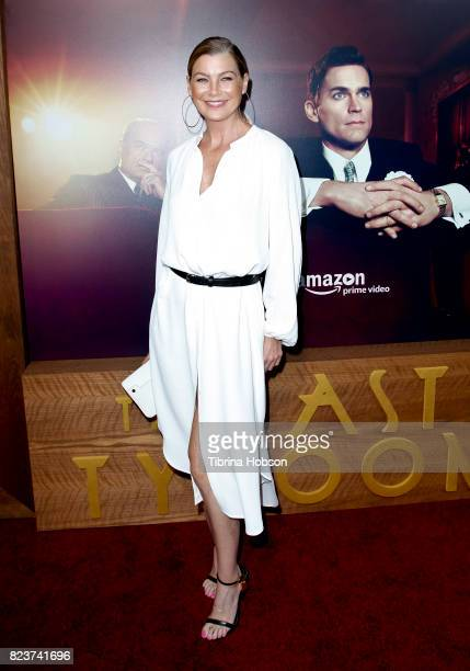 Ellen Pompeo attends the premiere of Amazon Studios 'The Last Tycoon' at the Harmony Gold Preview House and Theater on July 27 2017 in Hollywood...