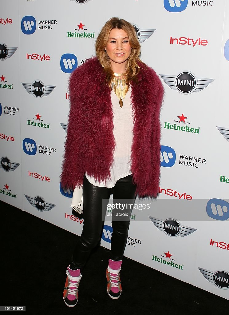 Ellen Pompeo attends the Warner Music Group 2013 Grammy Celebration Presented By Mini at Chateau Marmont on February 10, 2013 in Los Angeles, California.