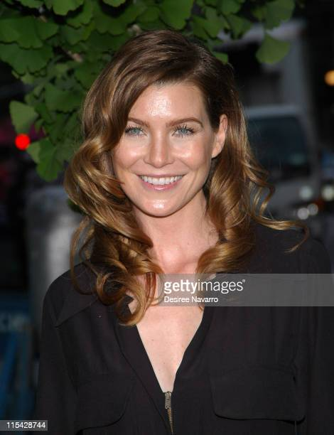 Ellen Pompeo during ABC Upfront 2006/2007 Departures at Lincoln Center in New York City New York United States