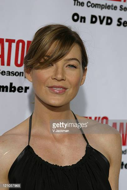 Ellen Pompeo during Grey's Anatomy DVD Season 2 Release Party at Social Hollywood in Los Angeles CA United States