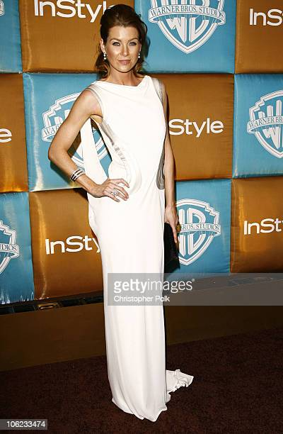 Ellen Pompeo during In Style Warner Bros Studios Host 8th Annual Golden Globe Party Arrivals at Oasis Court Beverly Hilton Hotel in Beverly Hills...