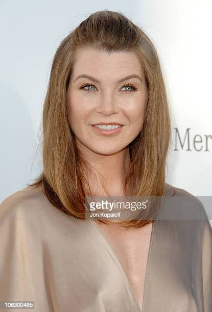 Ellen Pompeo during Sixth Annual Chrysalis Butterfly Ball Arrivals at Home of Susan Harris Hayward Kaiser in Mandeville Canyon California United...