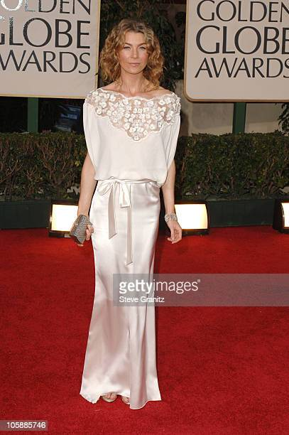 Ellen Pompeo during The 63rd Annual Golden Globe Awards Arrivals at Beverly Hilton Hotel in Beverly Hills California United States