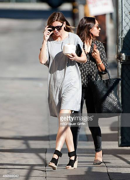 Ellen Pompeo is seen at 'Jimmy Kimmel Live' on October 02 2014 in Los Angeles California
