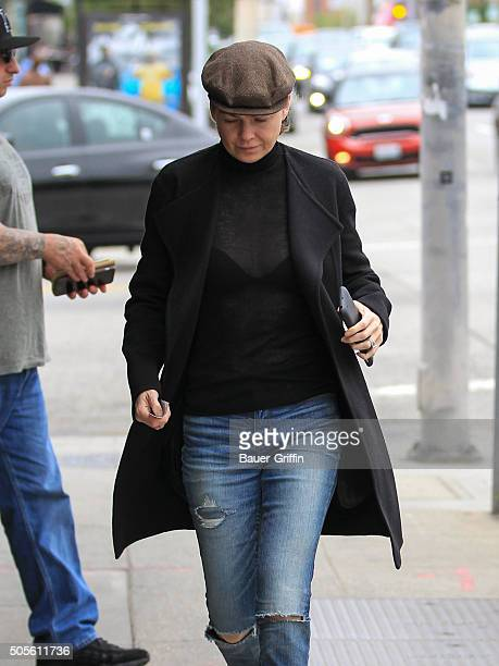 Ellen Pompeo is seen on January 18 2016 in Los Angeles California