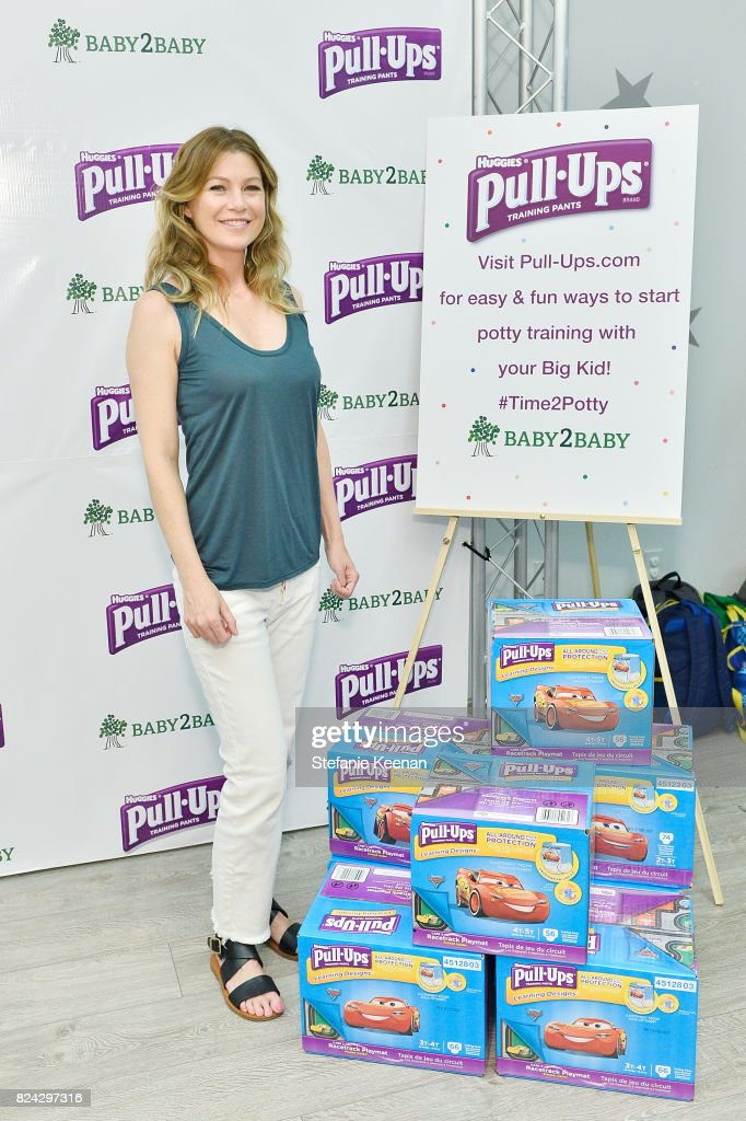 Ellen Pompeo, mom and star of hit television series Grey's Anatomy, accepts donations of 500,000 Pull-Ups Training Pants to Baby2Baby children in need at the Baby2Baby Welcome to the Jungle Party Presented by Pull-Ups Training Pants on July 29, 2017 in Los Angeles, California.