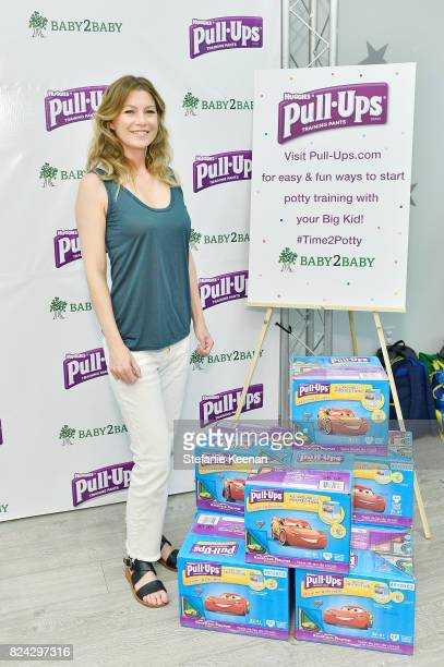 Ellen Pompeo mom and star of hit television series Grey's Anatomy accepts donations of 500000 PullUps Training Pants to Baby2Baby children in need at...