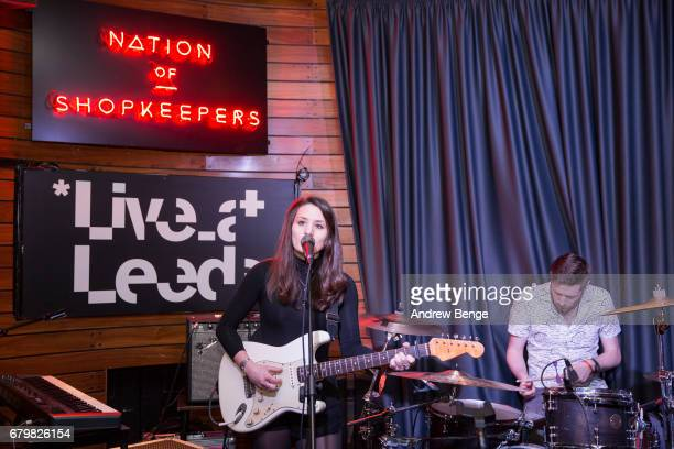 Ellen Smith and James Warrender of Shadowlark perform at Nation Of Shopkeepers during Live At Leeds on April 29 2017 in Leeds England Live at Leeds...