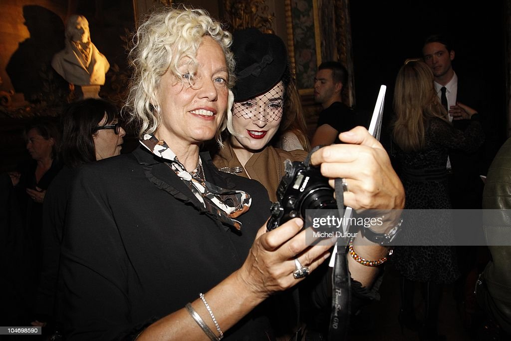 Ellen von Eunwerth and Dita von Teese attend the John Galliano Ready to Wear Spring/Summer 2011 show during Paris Fashion Week at Opera Comique on October 3, 2010 in Paris, France.