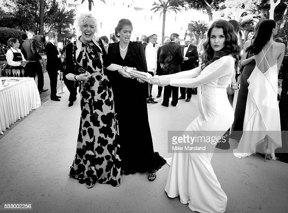 Ellen Von Unwerth and Adriana Karras attend the amfAR's 23rd Cinema Against AIDS Gala at Hotel du CapEdenRoc on May 19 2016 in Cap d'Antibes France
