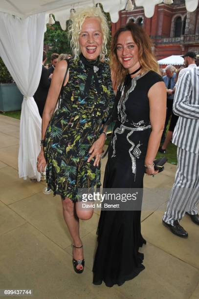 Ellen von Unwerth and Alice Temperley attend the 2017 annual VA Summer Party in partnership with Harrods at the Victoria and Albert Museum on June 21...