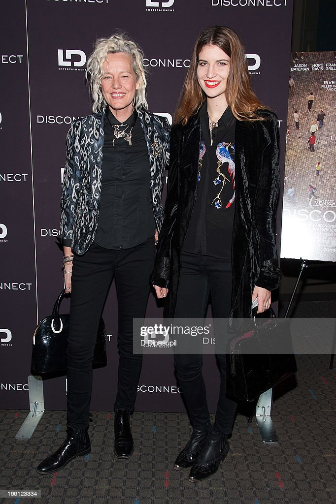 Ellen von Unwerth (L) and guest attend the 'Disconnect' New York Special Screening at SVA Theater on April 8, 2013 in New York City.