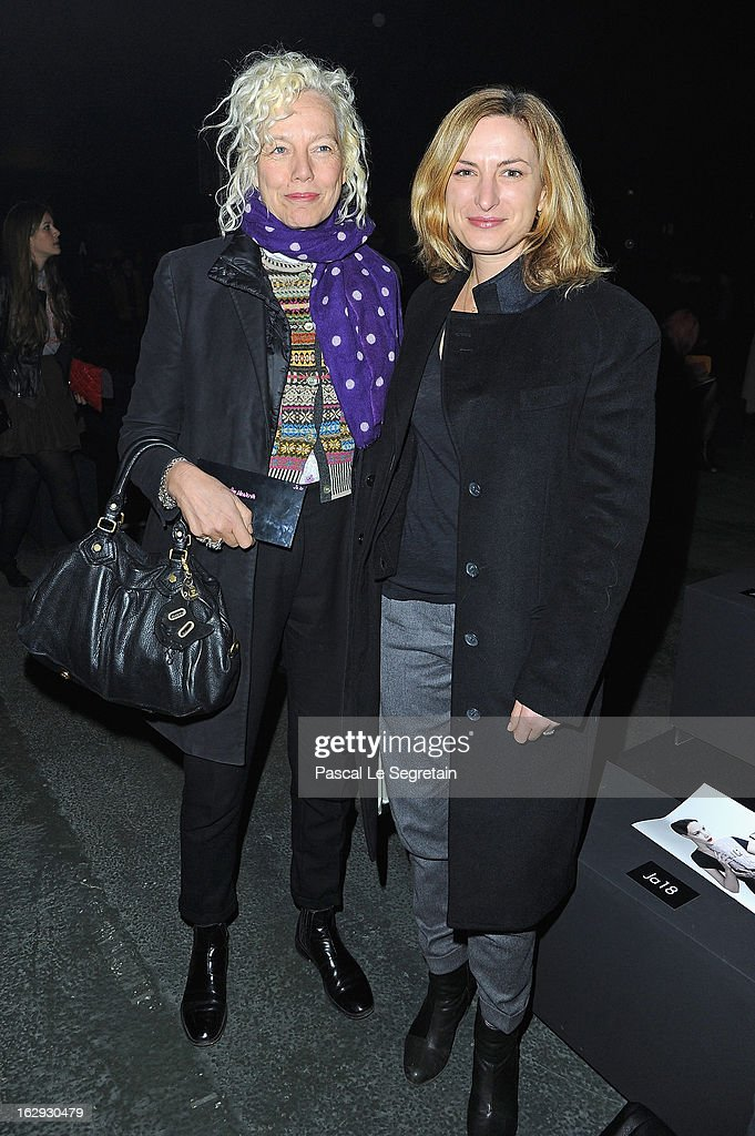 Ellen von Unwerth (L) and <a gi-track='captionPersonalityLinkClicked' href=/galleries/search?phrase=Zoe+Cassavetes&family=editorial&specificpeople=235327 ng-click='$event.stopPropagation()'>Zoe Cassavetes</a> attend the Sonia Rykiel Fall/Winter 2013 Ready-to-Wear show as part of Paris Fashion Week at Halle Freyssinet on March 1, 2013 in Paris, France.