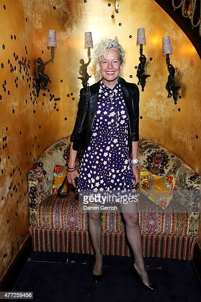 Ellen von Unwerth attends Anotherman 10th anniversary party at Lou Lou's 5 Hertford Street Mayfair on June 15 2015 in London England
