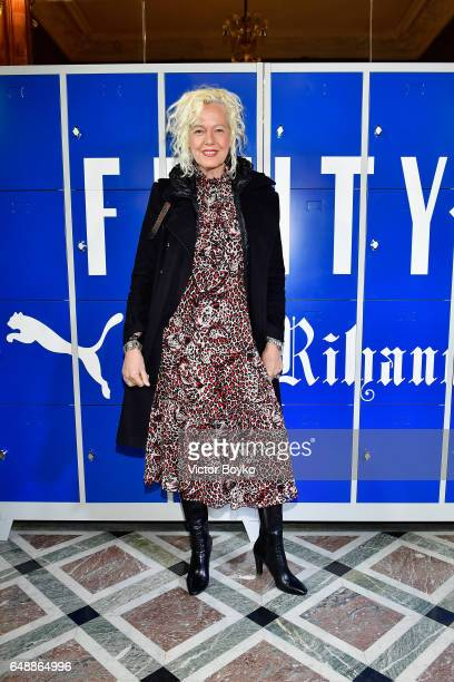 Ellen Von Unwerth attends FENTY PUMA by Rihanna Fall / Winter 2017 Collection at Bibliotheque Nationale de France on March 6 2017 in Paris France