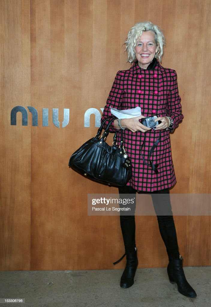 Ellen Von Unwerth attends the Miu Miu Spring/Summer 2013 show as part of Paris Fashion Week on October 3, 2012 in Paris, France.