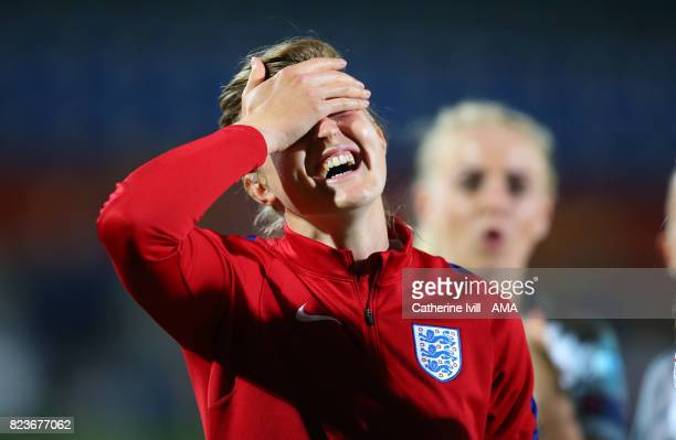 Ellen White of England Women during the UEFA Women's Euro 2017 match between Portugal and England at Koning Willem II Stadium on July 27 2017 in...