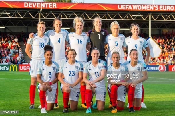 Ellen White of England women Jill Scott of England women Millie Bright of England women goalkeeper Karen Bardsley of England women Steph Houghton of...